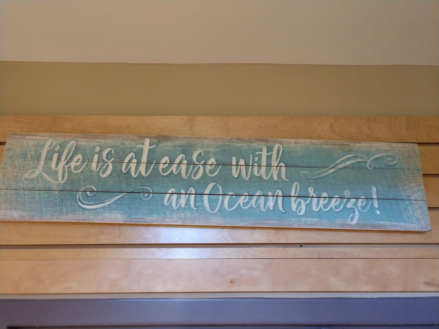 A Wood Sign Inside of our Home.