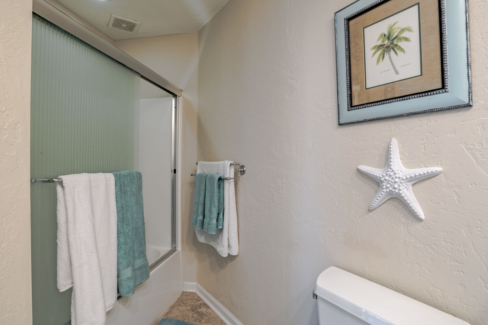 Bath attached to Bedroom 4 with Shower/Tub combo
