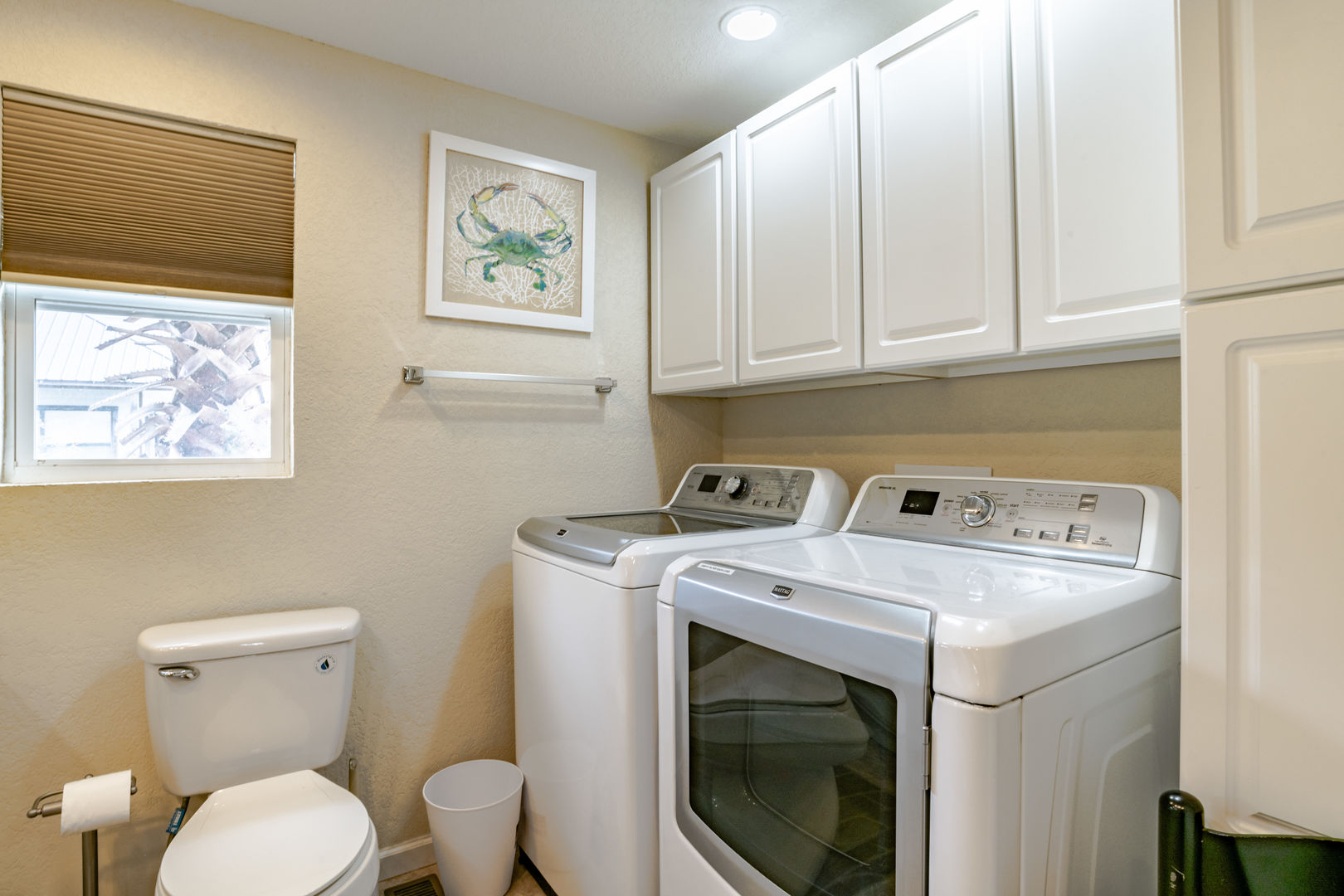 Full sized washer and dryer in Laundry Room
