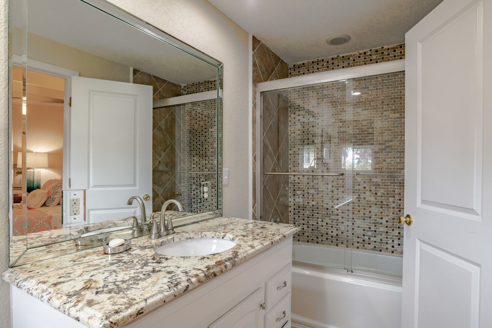 Bath attached to Bedroom 2 with Shower/Tub combo