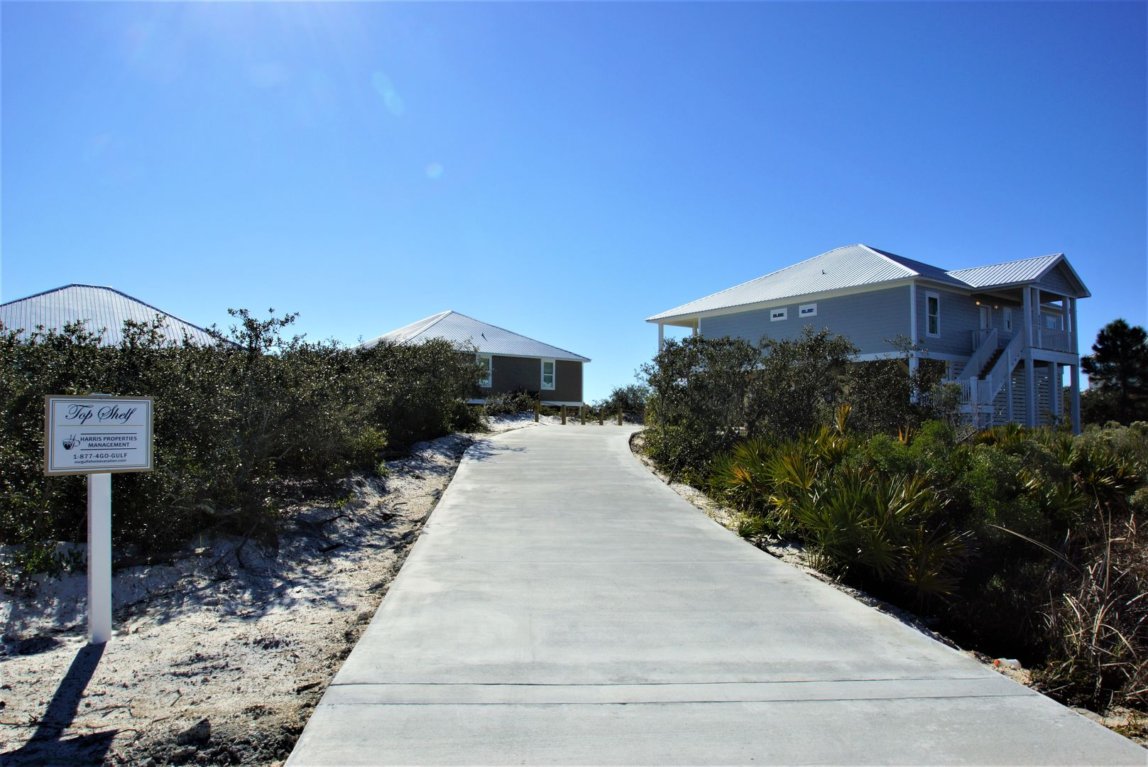Entrance to this Vacation Home For Rent In Gulf Shores, Alabama.