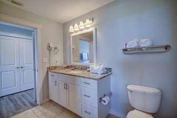 Beautiful bright guest bathroom
