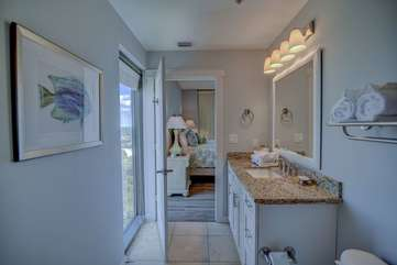 Master bathroom with granite counter tops