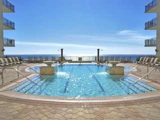 Breathtaking pool deck views