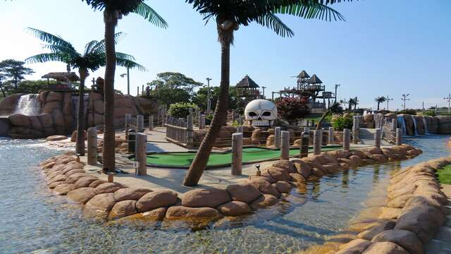 Skull Island Mini golf is in walking distance! South Yarmouth Cape Cod New England Vacation Rentals