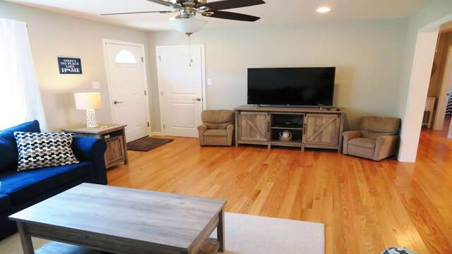 Unwind watching your favorite show or sports game-10 Melva Street South Yarmouth Cape Cod New England Vacation Rentals