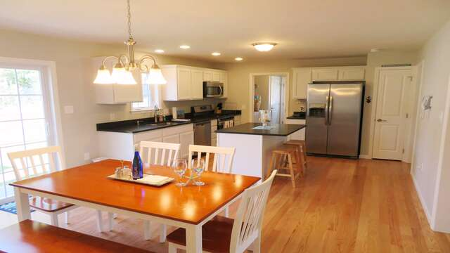 Light and bright kitchen and dining space-10 Melva Street South Yarmouth Cape Cod New England Vacation Rentals