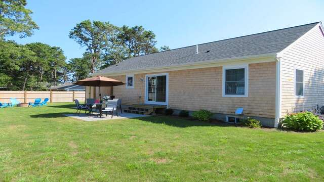 Big backyard-perfect for the kids to run around and play! 10 Melva Street South Yarmouth Cape Cod New England Vacation Rentals