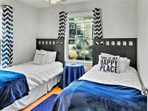 Bedroom with two twin beds-10 Melva Street South Yarmouth Cape Cod New England Vacation Rentals