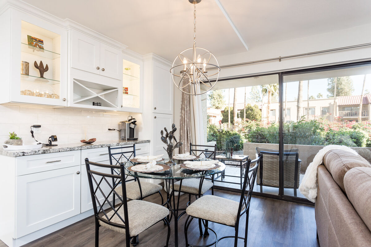 Dining area with lots of natural light