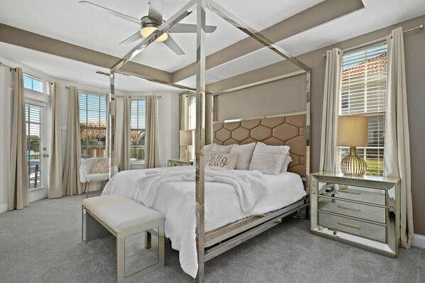 Downstairs King Master bedroom with en-suite