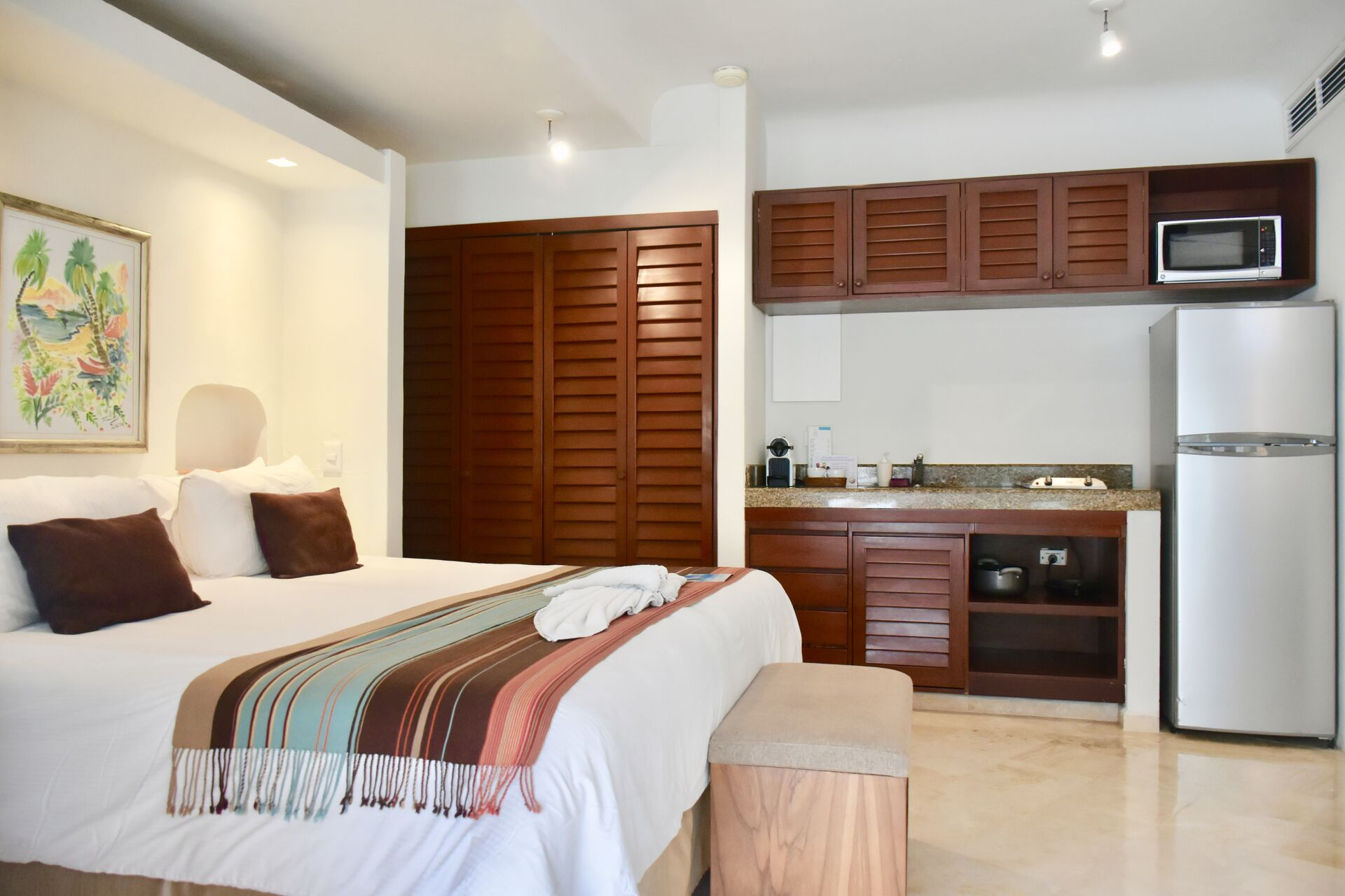 Ocean view room with kitchenette.