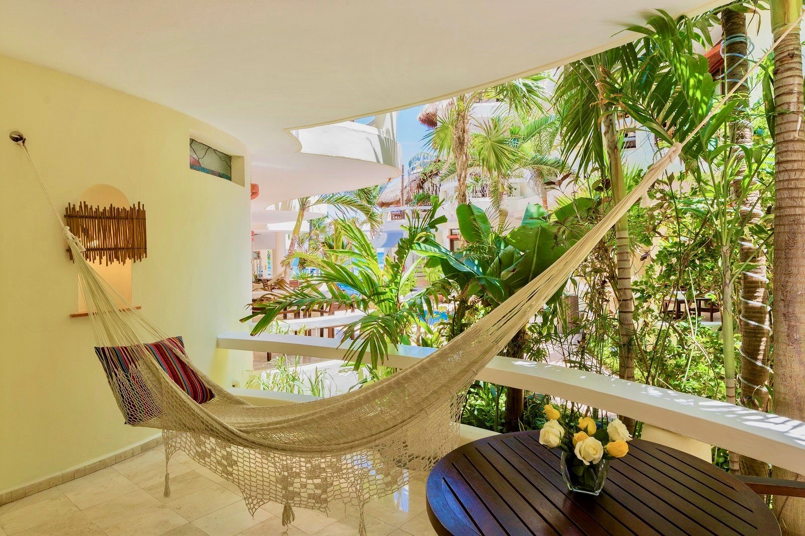 Private relaxing area.