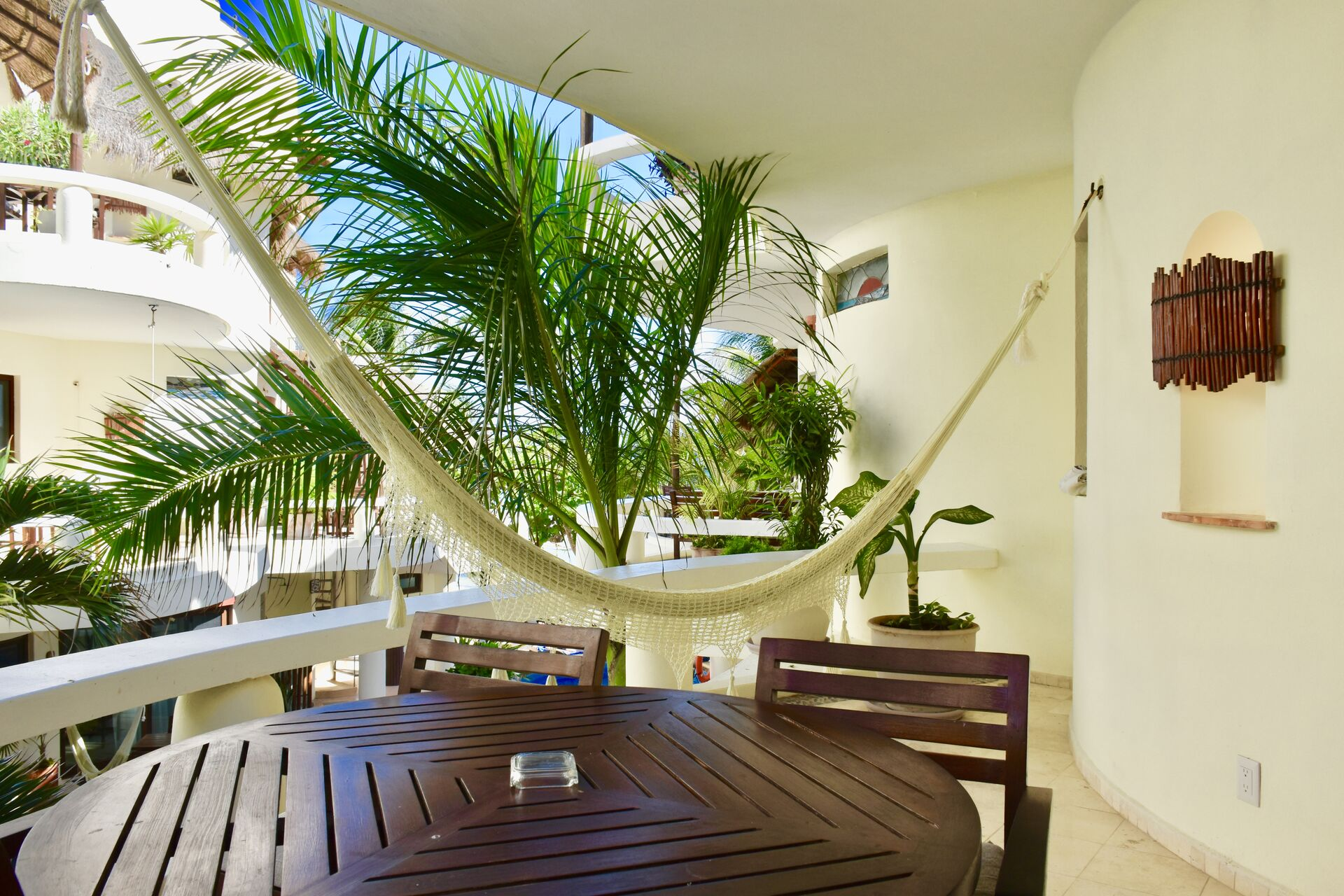 Large private balcony.