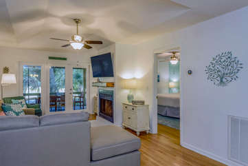 Welcome to 1155 Summerwind Cottage! High ceilings give the great room a nice airy feel.