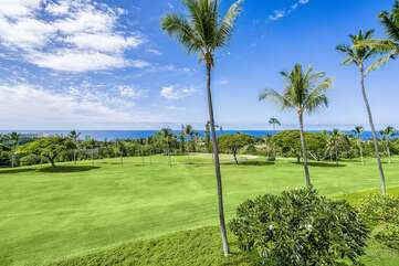 Lovely views of the ocean and golf course