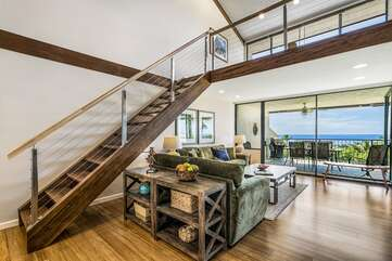 Living area/Stairs to Bedroom 3