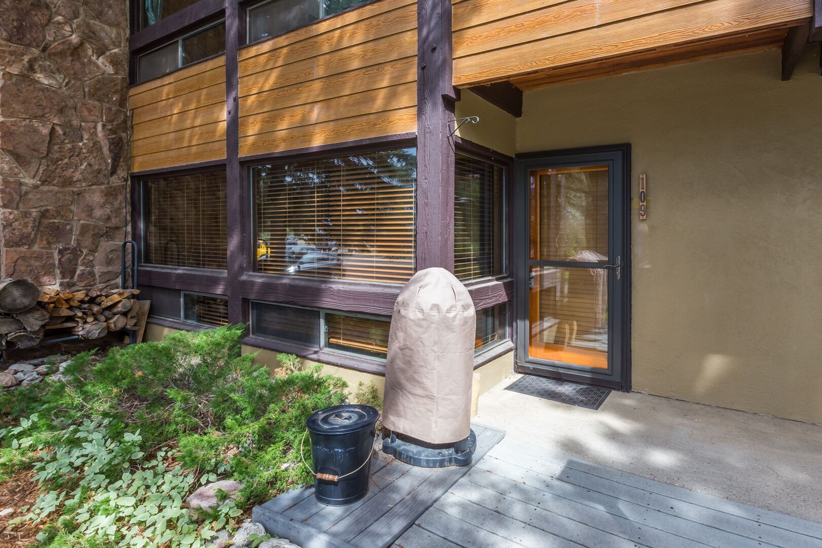 Front door to this condo in Steamboat Springs.