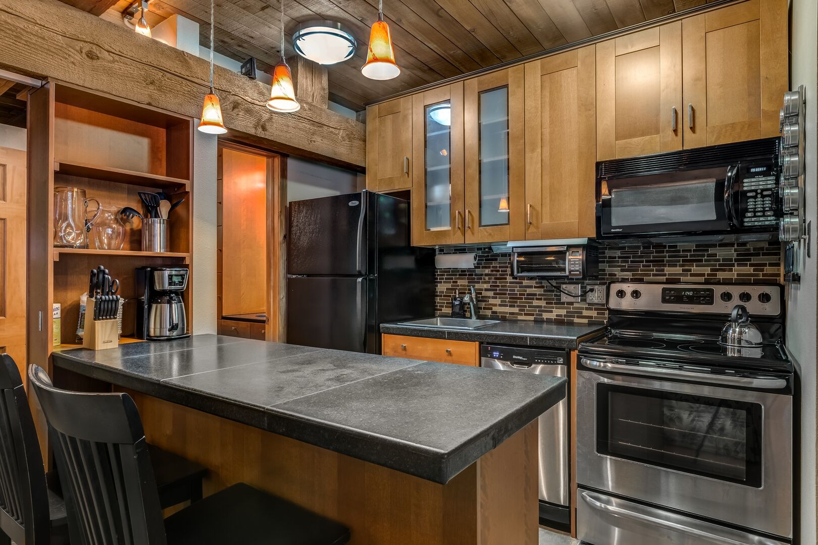 Remodeled kitchen of this condo in Steamboat Springs