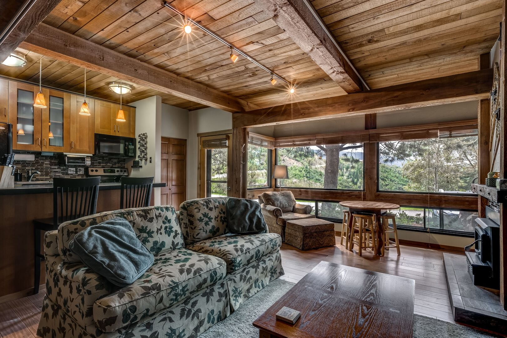 Main space of this condo in Steamboat Springs