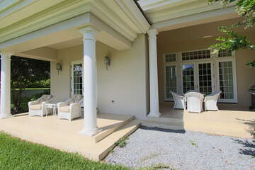 Two outdoor porches