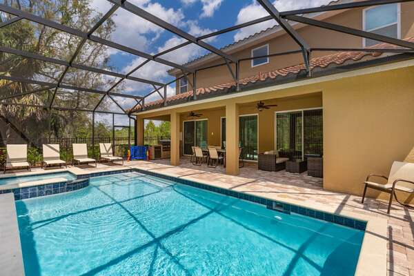 Featuring your own private screened in pool