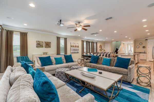 Be welcomed into luxury with a spacious open living area