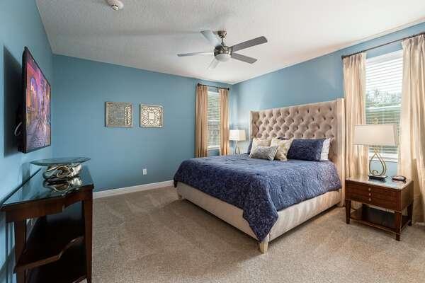 Spacious King bedroom