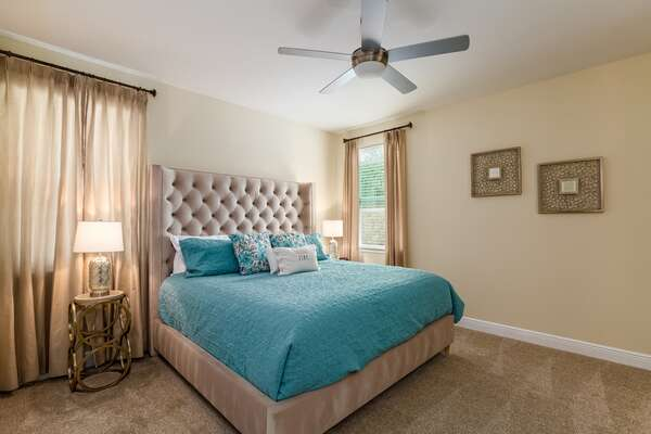 Comfortable and stylish King master suite