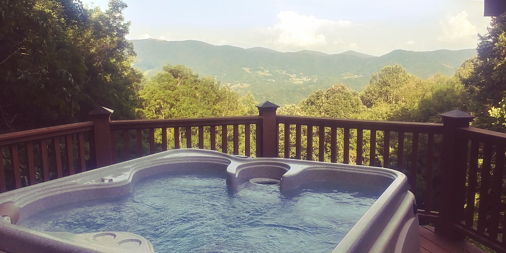 Soak away your worries with that view in the newly added hot tub