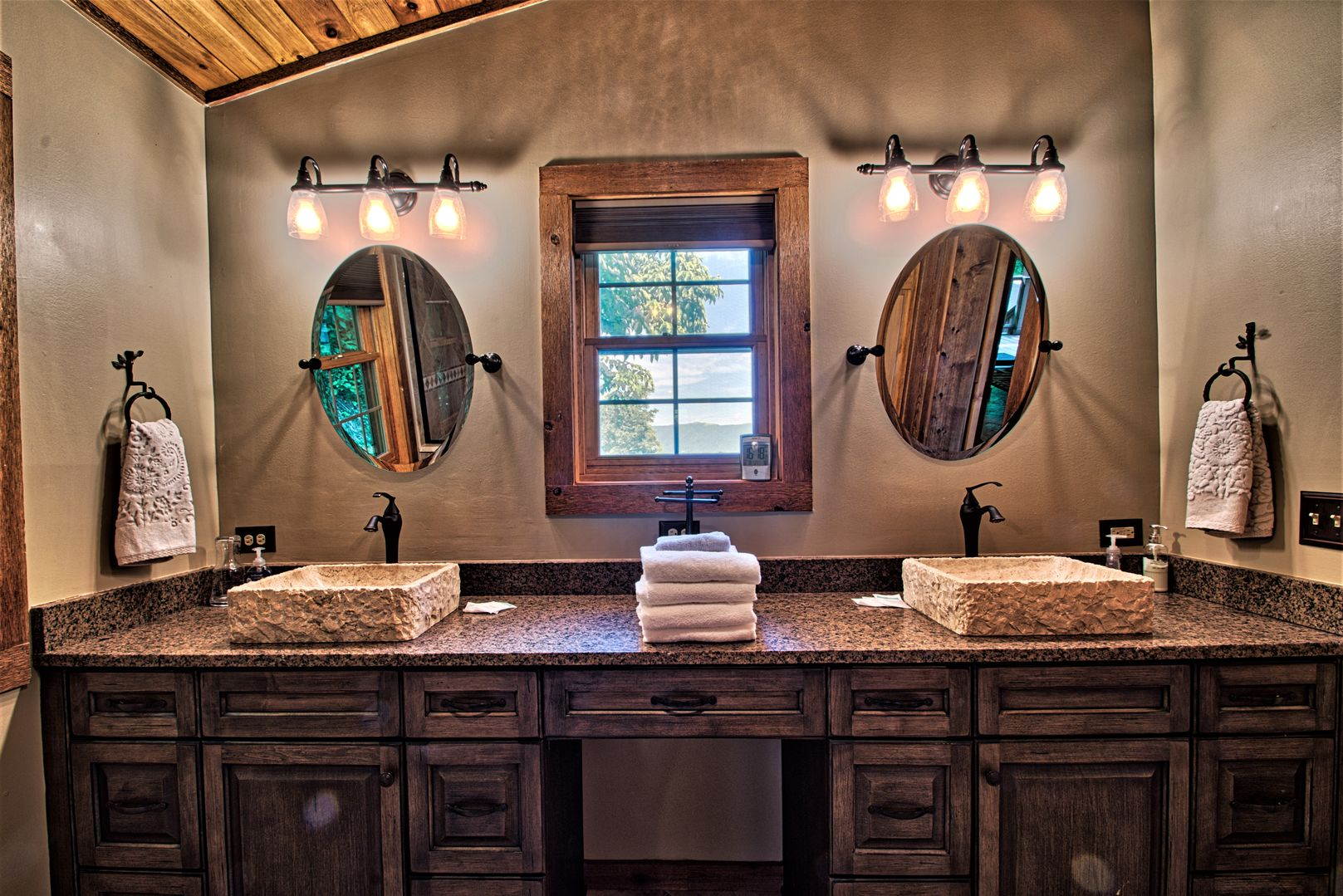 Master bath with step-in shower