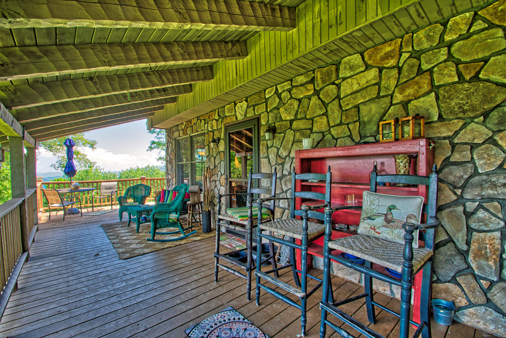 Back porch seating