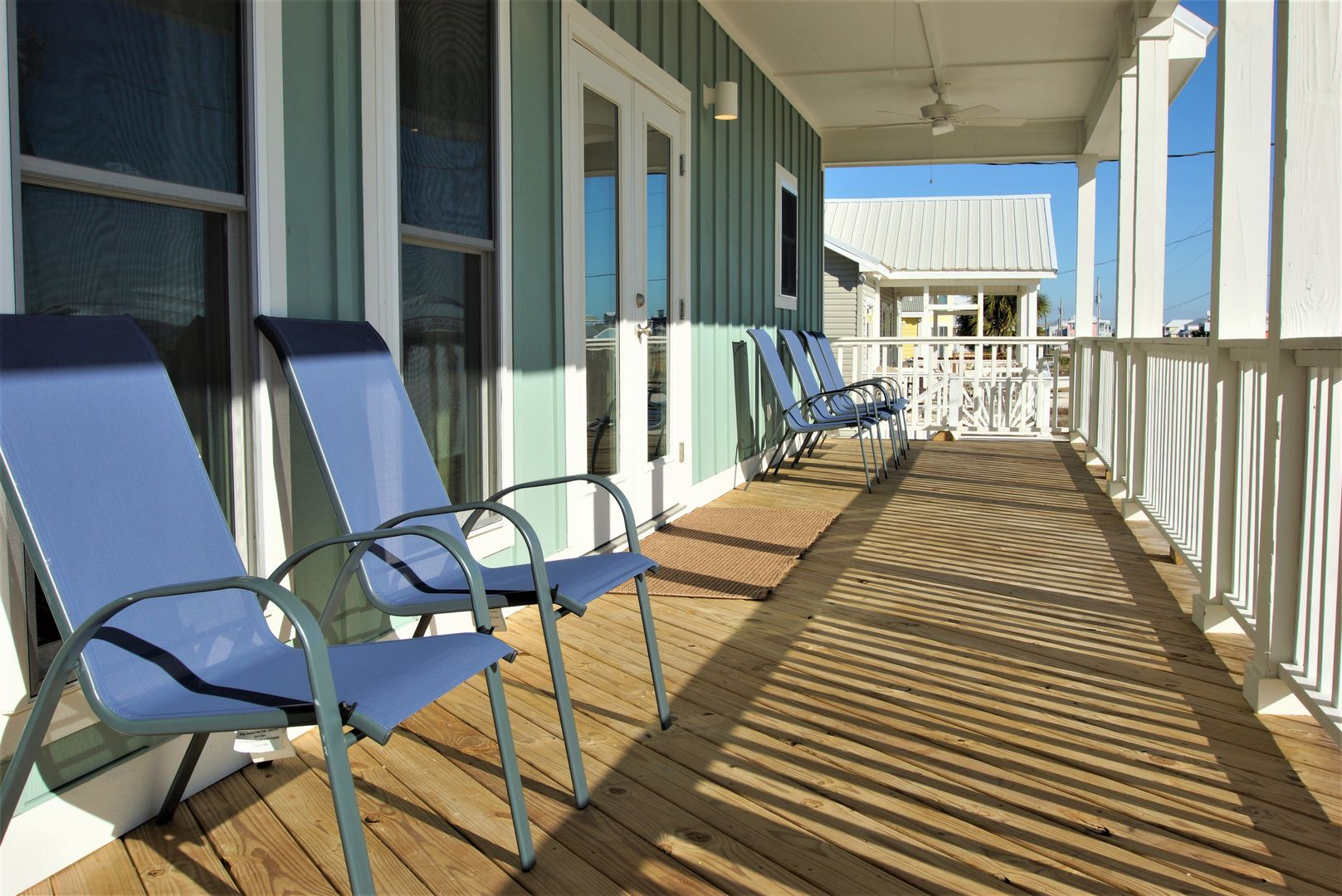 Plenty of seating on the balcony of this Vacation Rental in Gulf Shores AL.
