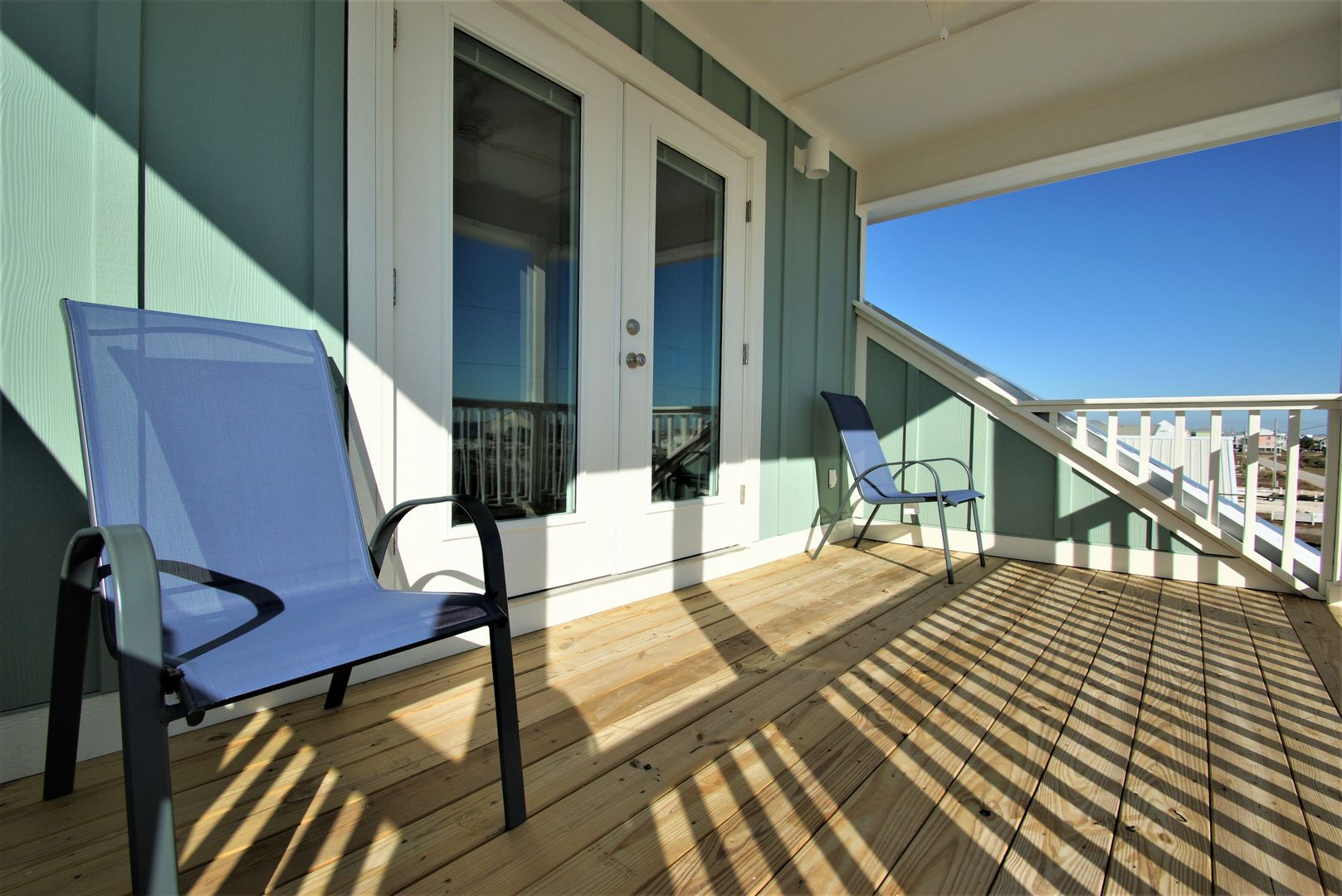 Private balcony from the master bedroom of this Vacation Rental in Gulf Shores AL.