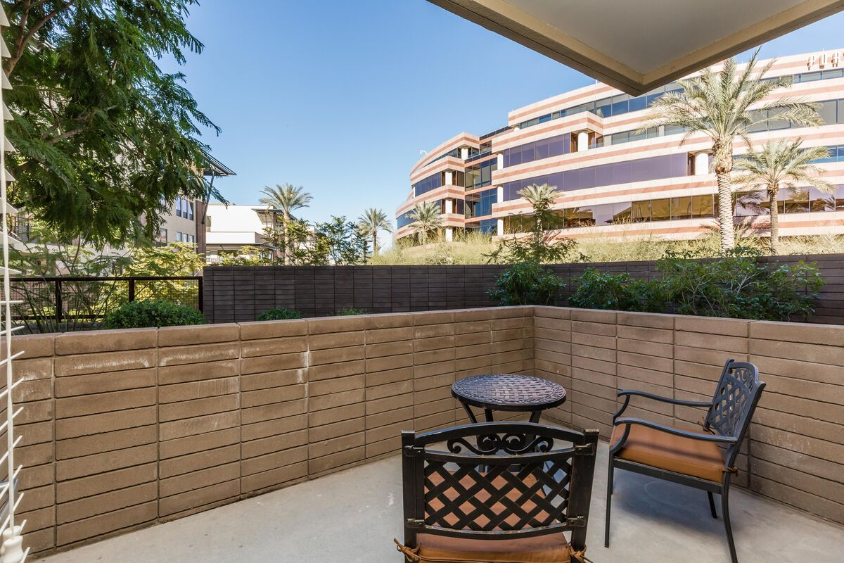 Your large private patio w/ bistro set.