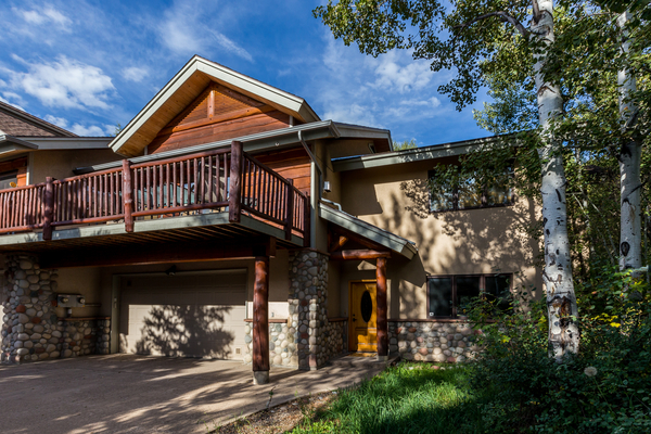 Garage and Deck at this steamboat springs vacation rental