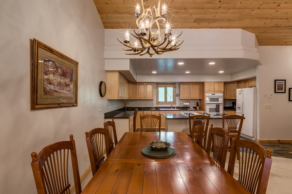 Large Dining Table nearby kitchen