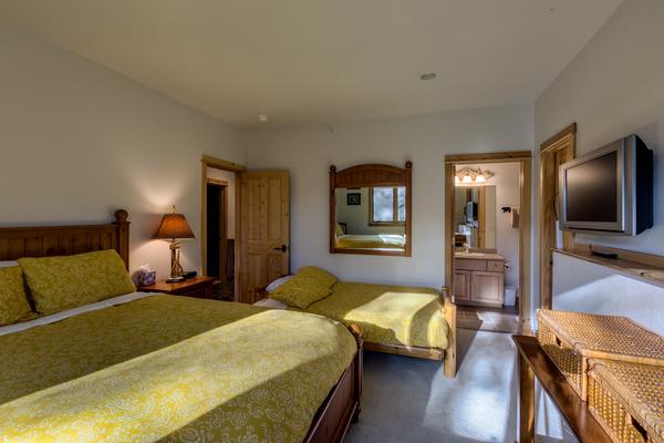 Lower level Queen plus Futon Bedroom