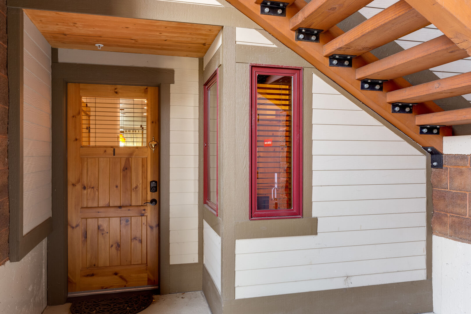Front door/Entryway to this pet friendly steamboat springs condo