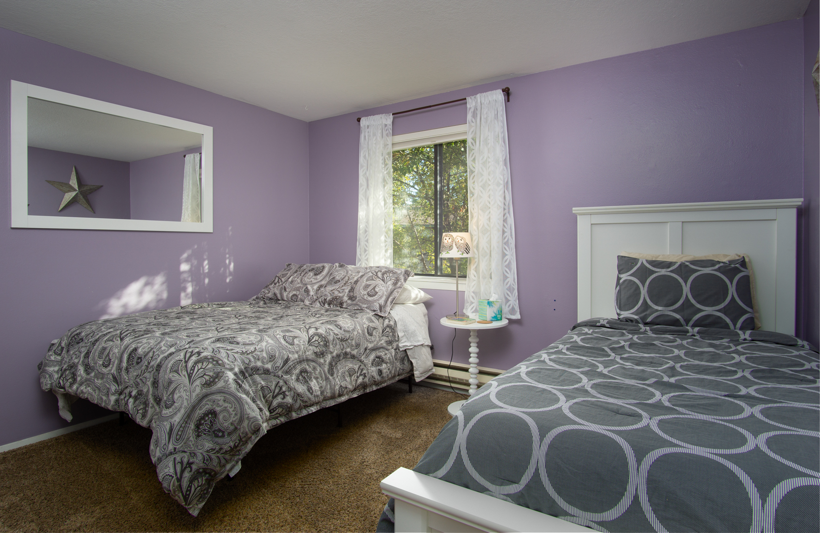 Bedroom Three Features a Full and Twin Bed