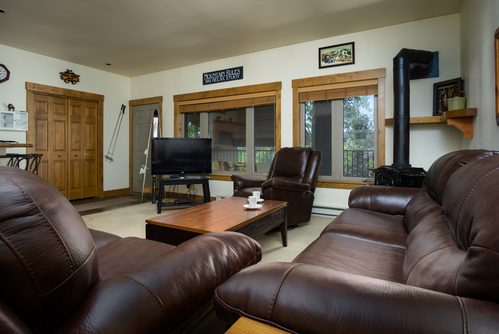 Living Area is Fully Furnished with Plenty of Comfortable Seating