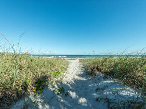 Your walk from the pool to the beach