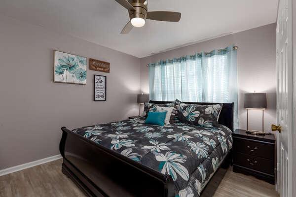 Plush King bedroom