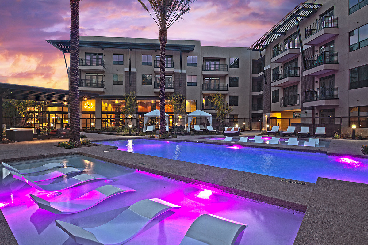 Resort-style heated pool w/ in pool loungers. Heated spa, and pool cabana's.