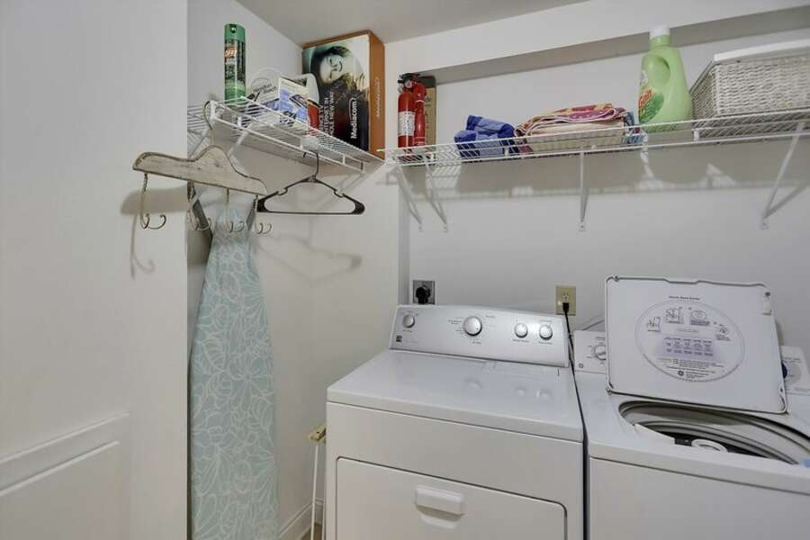 The Laundry Room is located on the 1st floor and has a Full Size Washer and Dryer
