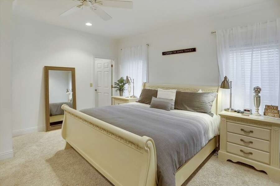 2nd Floor Master Bedroom as a King Size Bed and Private Bath