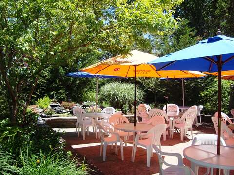 The patio at Longshore Restaurant -Chatham Cape Cod - New England Vacation Rentals
