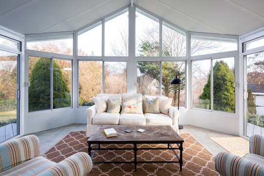 Large windows let the light shine through - 55 Lime Hill Chatham Cape Cod - New England Vacation Rentals