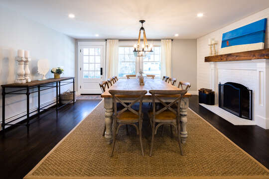 The dining table doubles as a great work space and place to entertain - 55 Lime Hill Chatham Cape Cod - New England Vacation Rentals