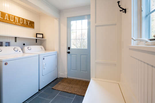 First floor laundry is convenient and easily accessible - 55 Lime Hill Chatham Cape Cod - New England Vacation Rentals